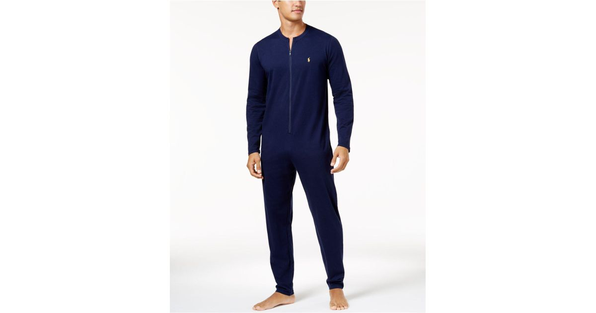 fda556e9e3f3 Lyst - Polo Ralph Lauren Men s Cotton Jumpsuit Pajamas in Blue for Men