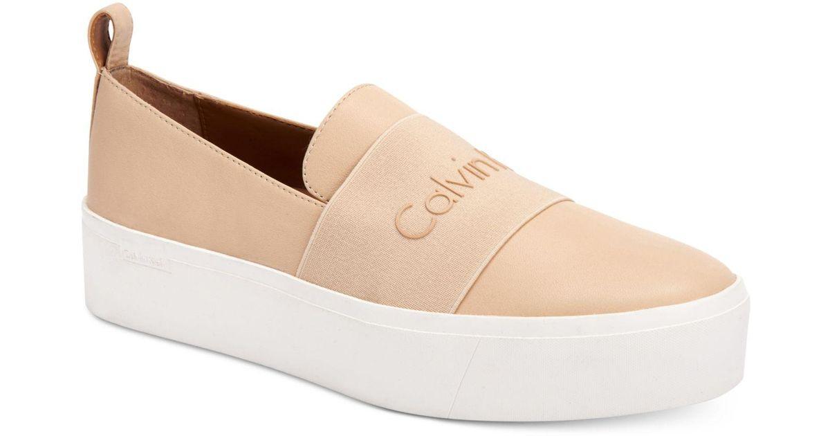 Calvin Klein Jacinta Leather Low Top