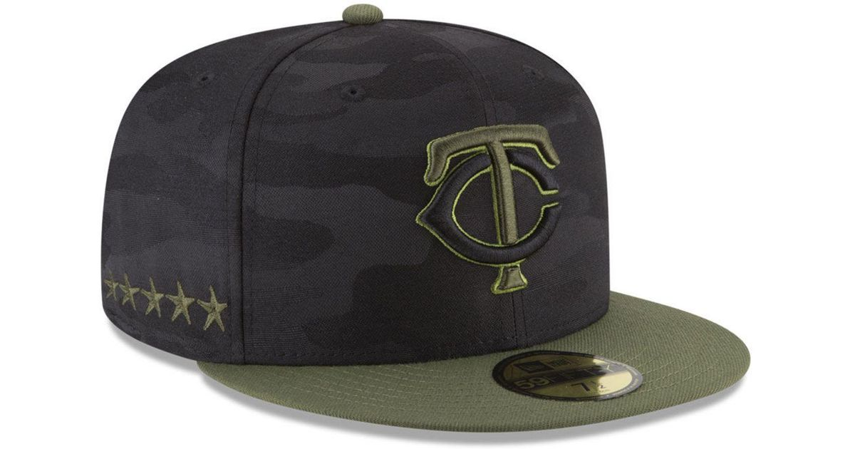 new arrival e7b4c 4385f Lyst - KTZ Minnesota Twins Memorial Day 59fifty Fitted Cap in Black for Men