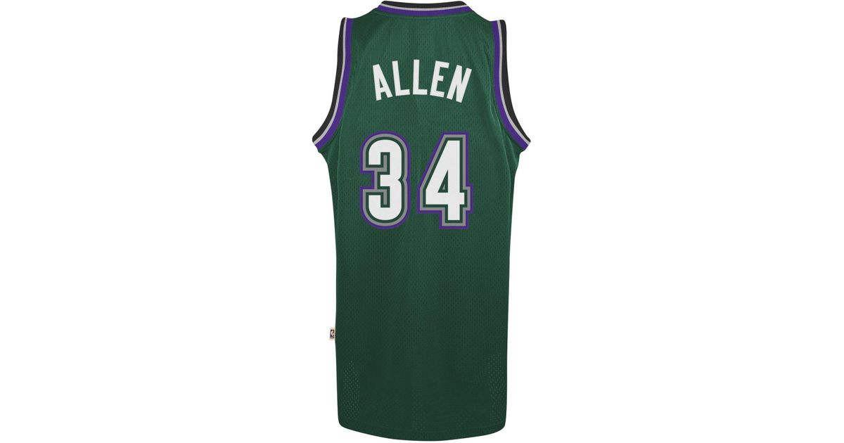 adidas Ray Allen Milwaukee Bucks Swingman Jersey in Black ...