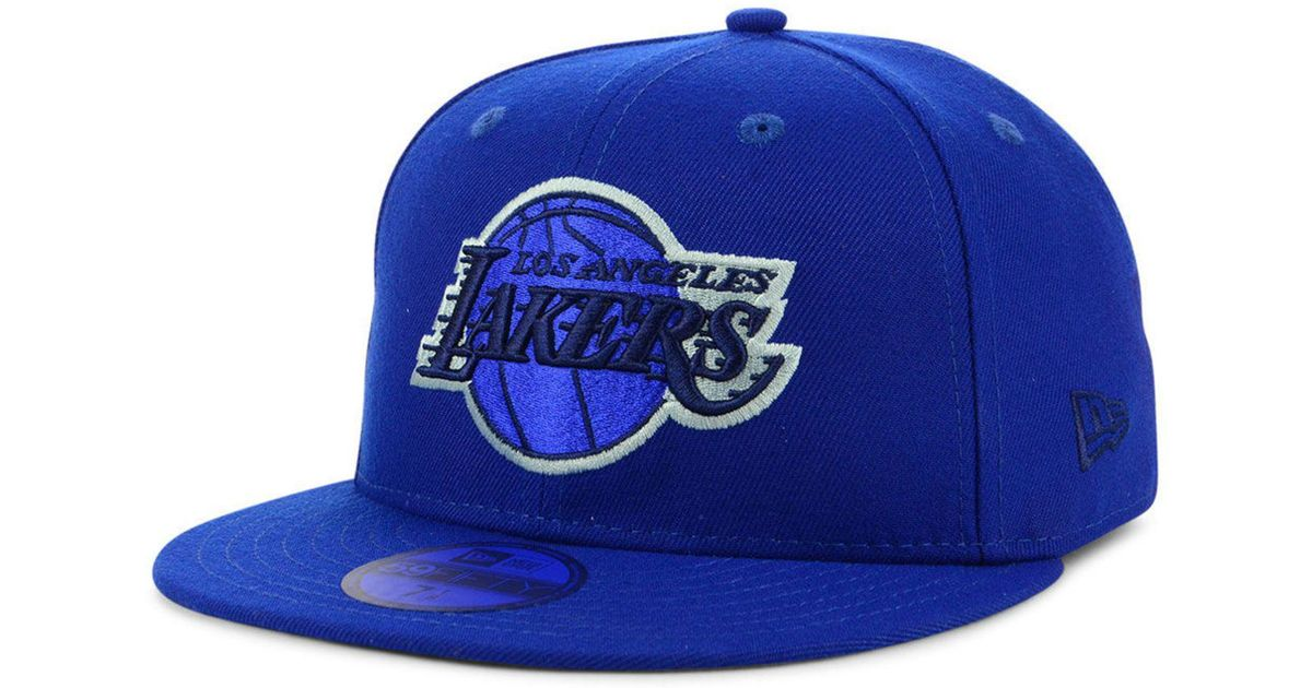 cheap for discount 6b02e 7e4ee KTZ Los Angeles Lakers Color Prism Pack 59fifty Fitted Cap in Blue for Men  - Lyst