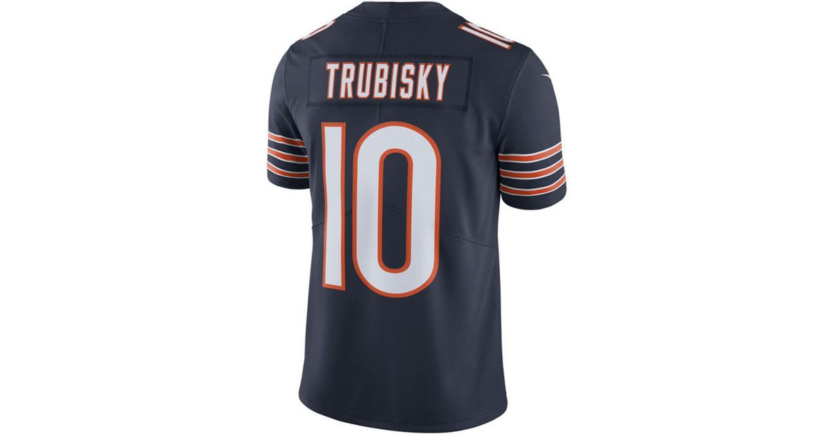 newest f3272 542dd Nike Blue Mitchell Trubisky Chicago Bears Vapor Untouchable Limited Jersey  for men
