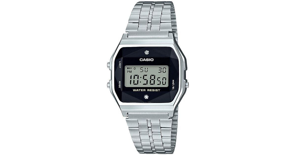 G Shock G Shock Unisex Digital Vintage Diamond 1 10 Ct T W