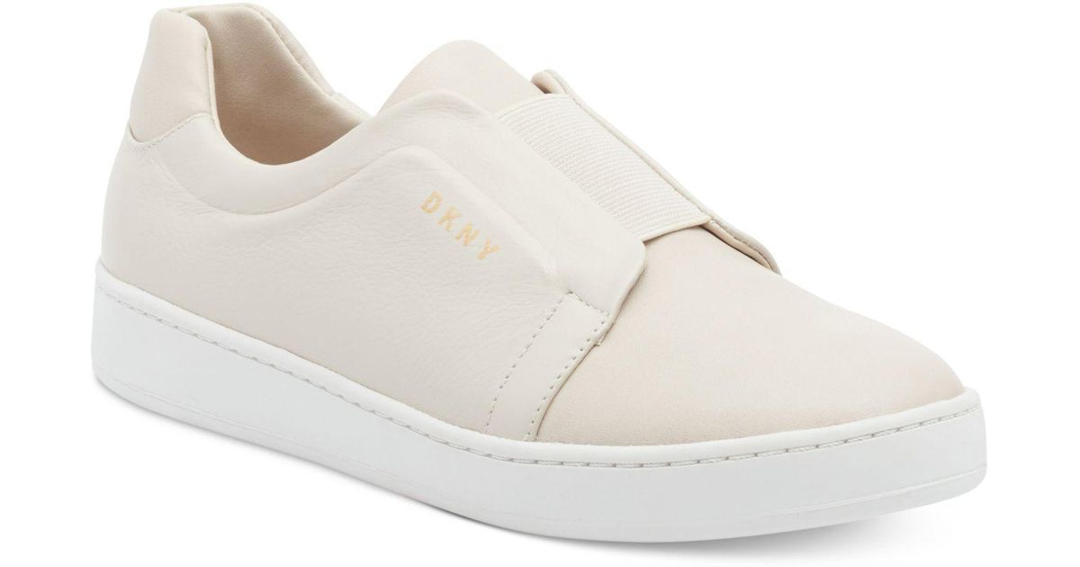 DKNY Denim Bobbi Slip-on Shoes in White