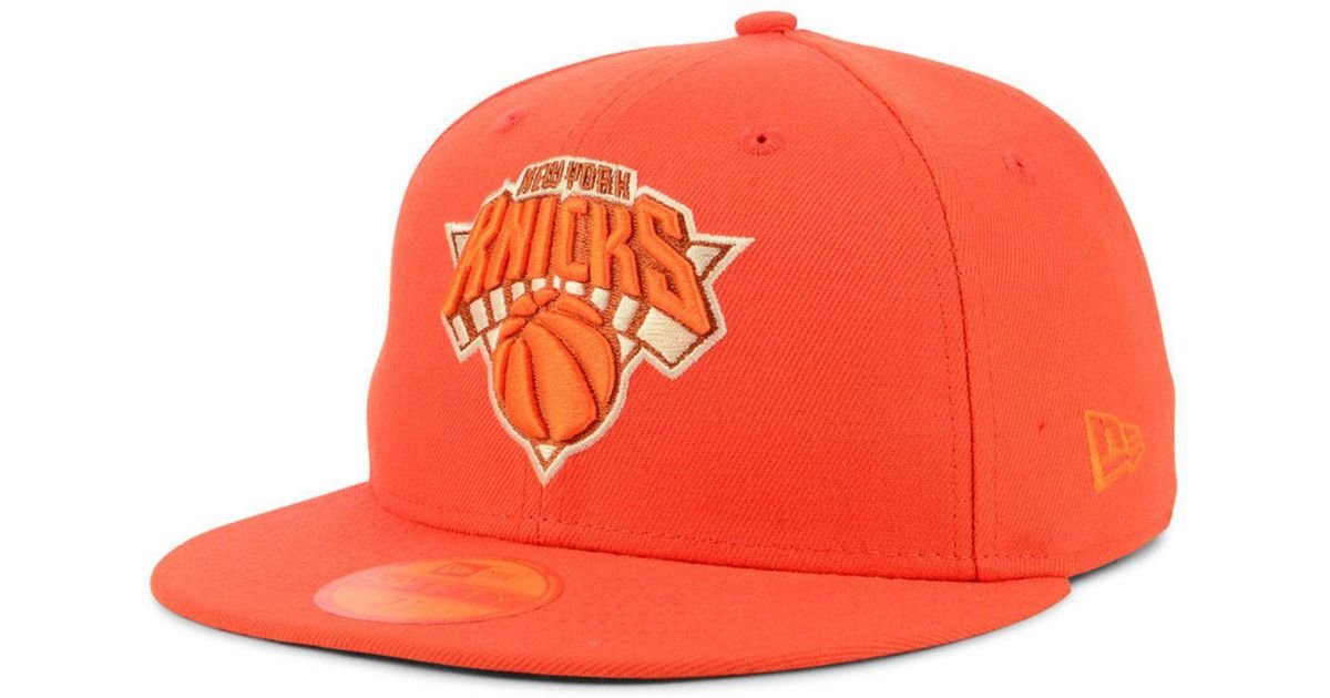 save off 34d3b 3e7d3 Lyst - KTZ New York Knicks Color Prism Pack 59fifty Fitted Cap in Orange  for Men