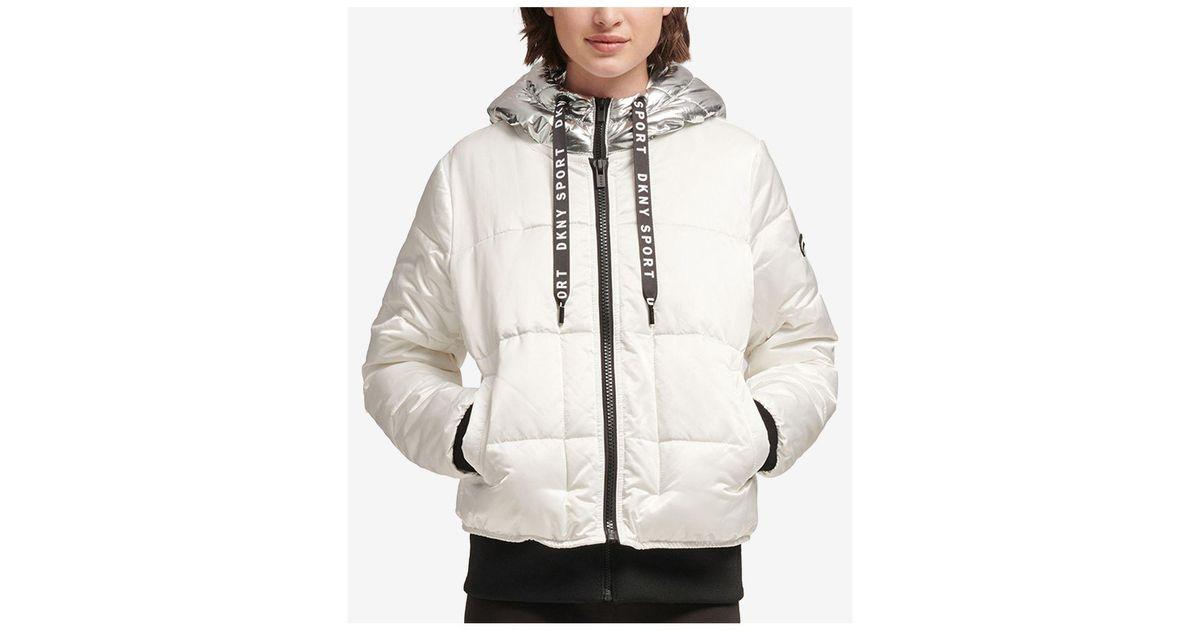 dc6b90eb4 DKNY Sport Metallic-hood Puffer Jacket