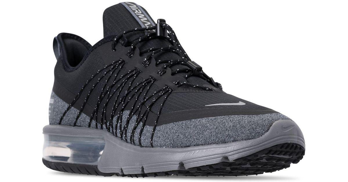 Nike Air Max Sequent 4 Shield (blackmetallic Silverdark Grey) Running Shoes for men