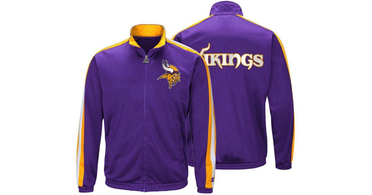 outlet store bec58 45ca2 Starter Purple Minnesota Vikings The Challenger Track Jacket for men