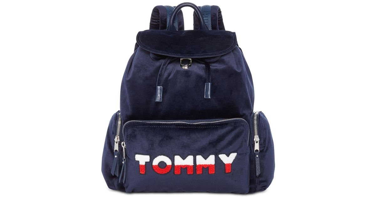 f8117559 Tommy Hilfiger Nylon Flap Backpack (tommy Navy) Backpack Bags in Blue -  Save 15% - Lyst