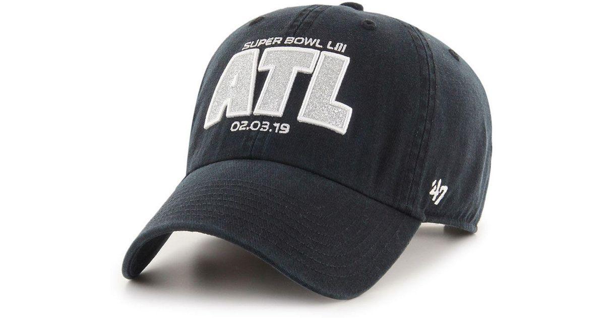 official photos 910e9 3fa07 47 Brand Super Bowl Liii Glitta Clean Up Strapback Cap in Black - Lyst