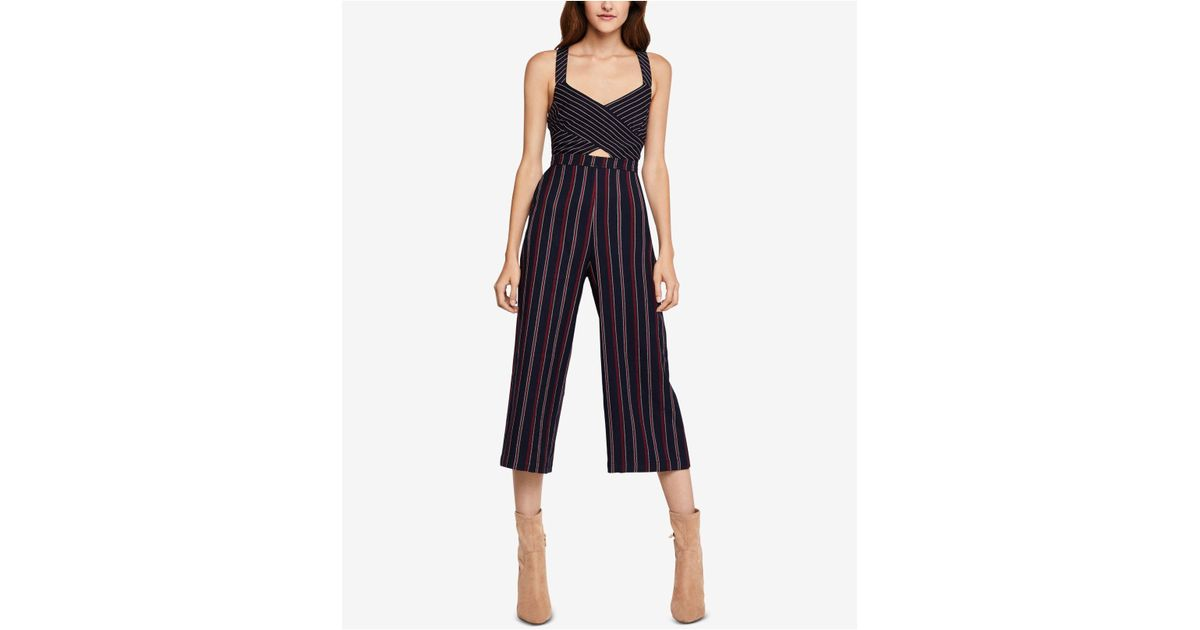 9390d9e5ad Lyst - BCBGeneration Striped Jumpsuit in Blue - Save 79%