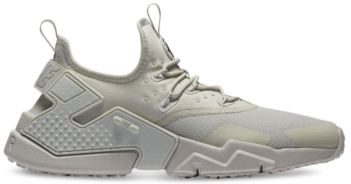 sports shoes 55d37 bec78 Nike Gray Air Huarache Run Drift Casual Sneakers From Finish Line for men