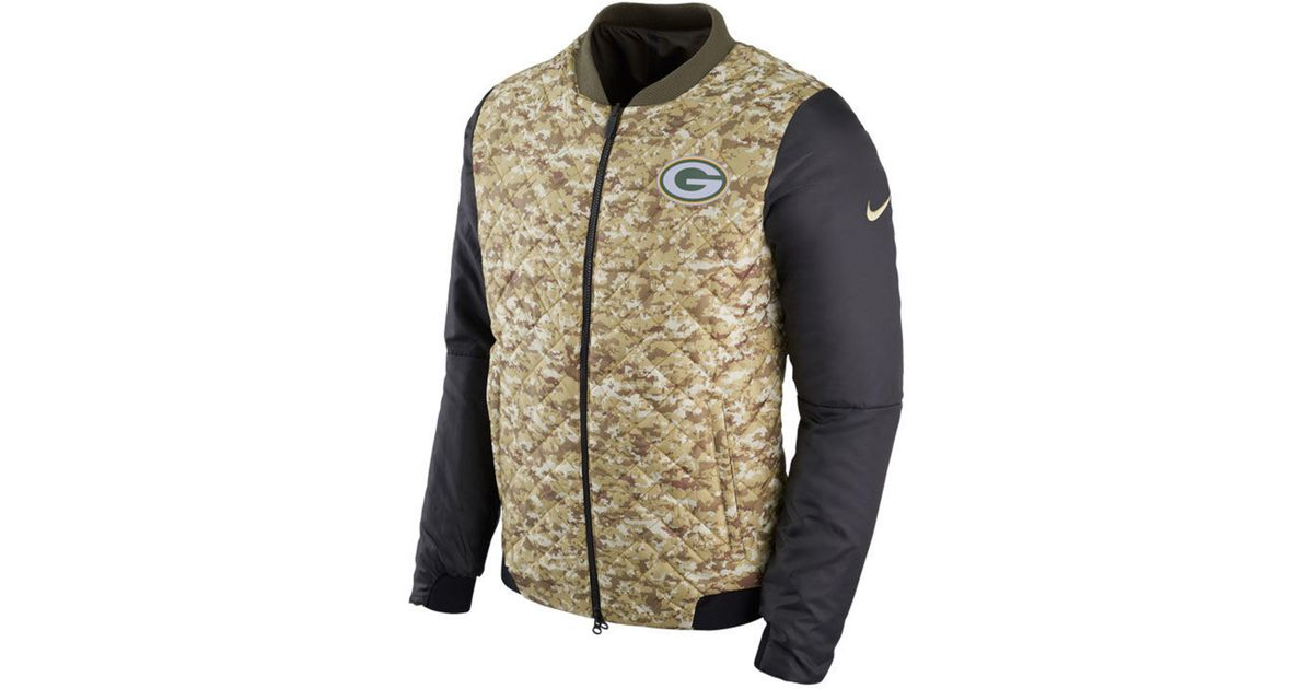 5bad36f78 Nike Men s Salute To Service Bomber Jacket in Green for Men - Lyst