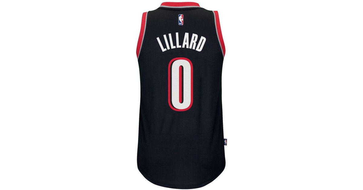 e18335ec7e2 Lyst - adidas Originals Men's Damian Lillard Portland Trail Blazers  Swingman Jersey in Black for Men