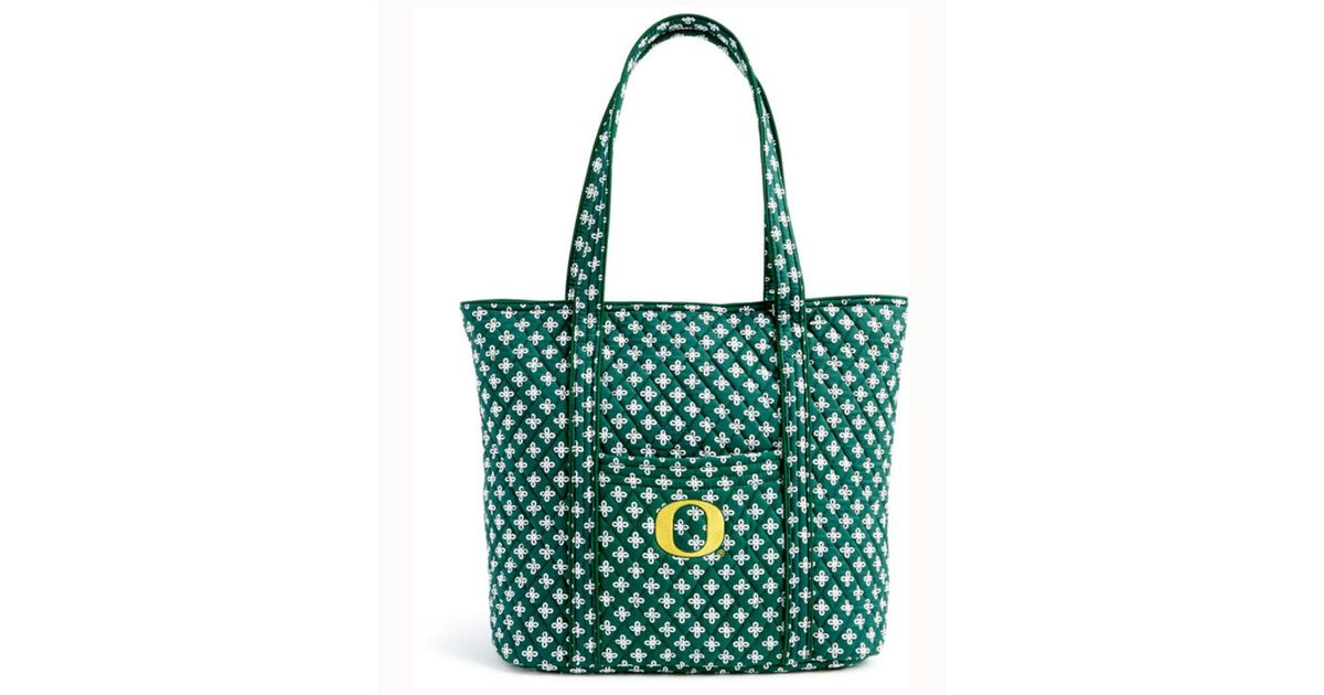 ca3fb1432c Lyst - Vera Bradley Oregon Ducks Tote in Green