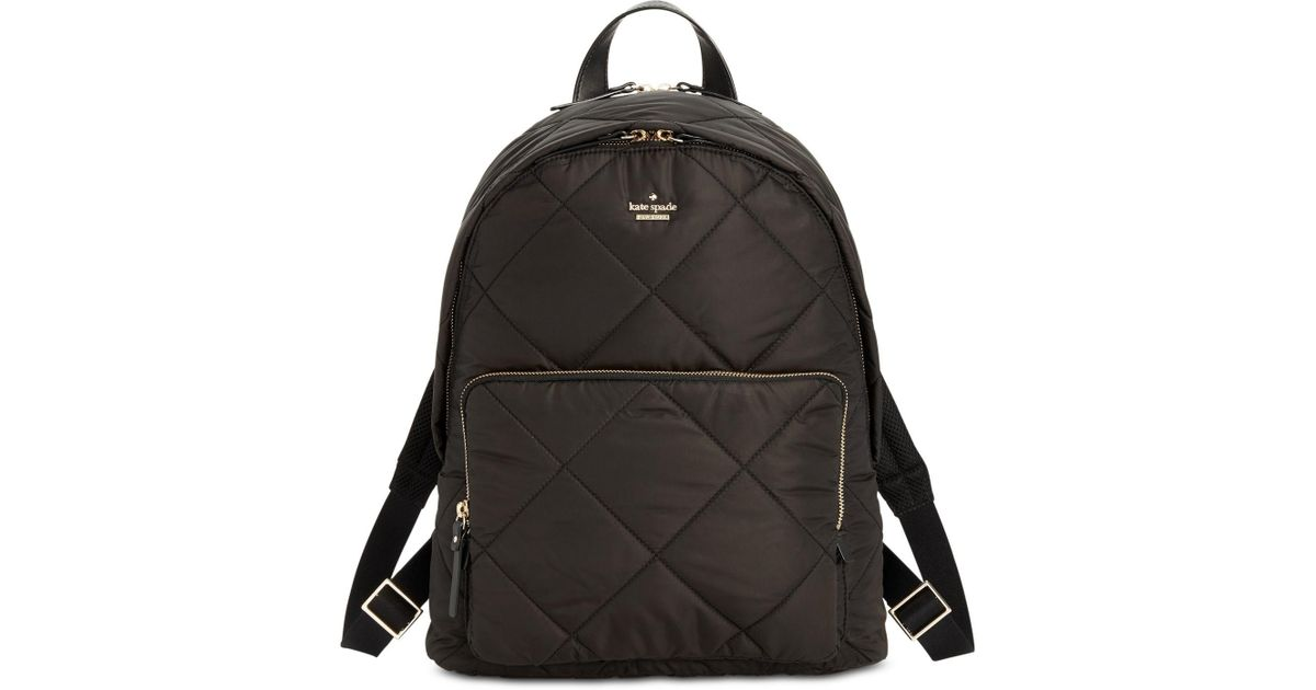 c97d528a0 Kate Spade Black Quilted Tech Large Backpack