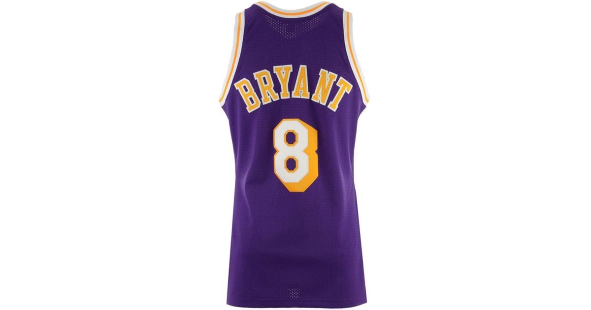 timeless design 5ff06 b5d2d Mitchell & Ness Purple Kobe Bryant Los Angeles Lakers Authentic Jersey for  men
