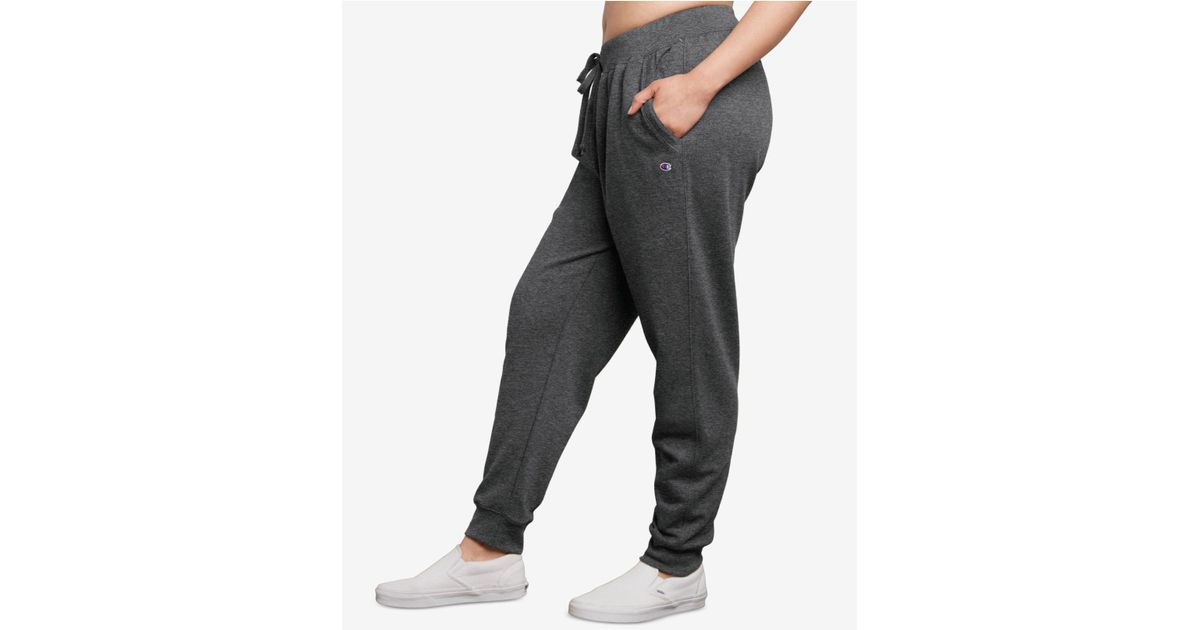 df451823f77ad Lyst - Champion Plus Size Powerblend Fleece Joggers in Gray