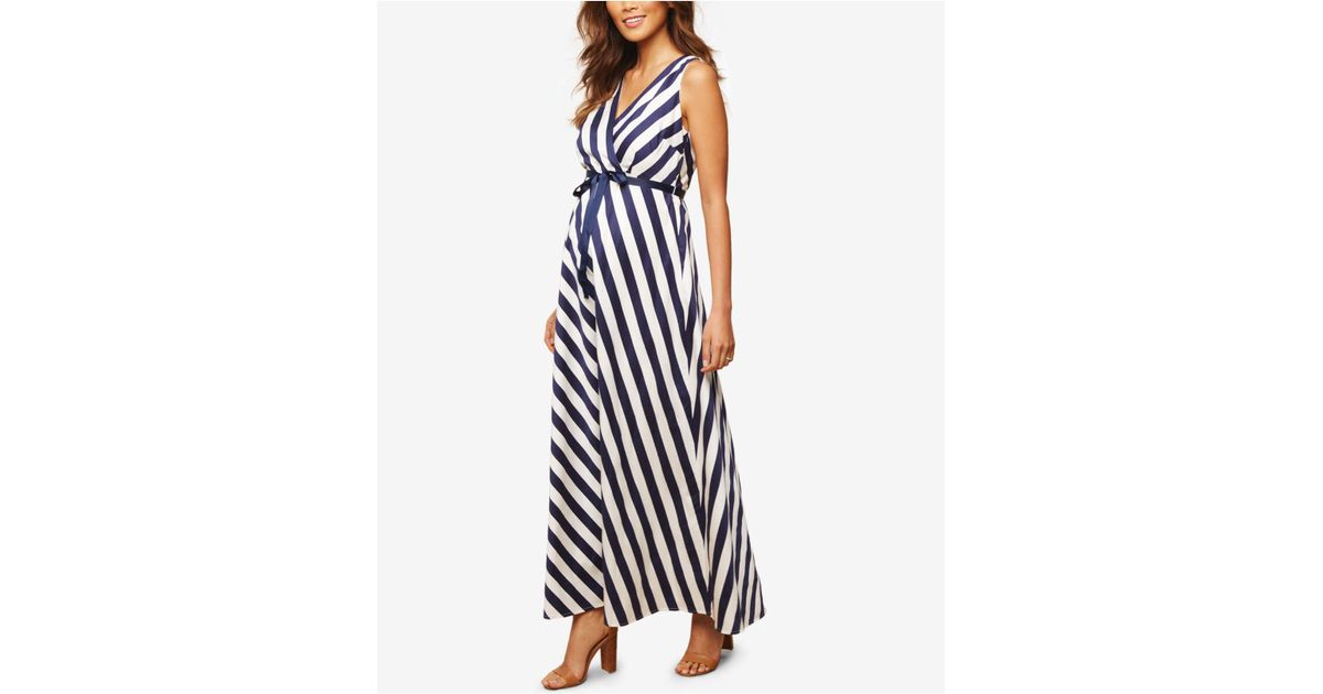 534e77171c1 Lyst - Jessica Simpson Maternity Striped Maxi Dress in Black