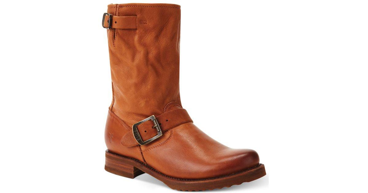 Frye Women S Veronica Short Boots In Brown Lyst