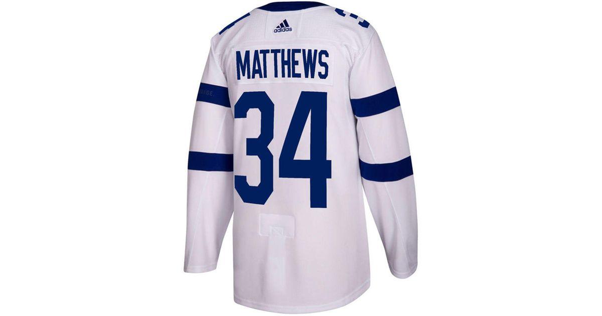 sale retailer f8adc efed7 Adidas White Auston Matthews Toronto Maple Leafs Authentic Pro Stadium  Series Player Jersey for men
