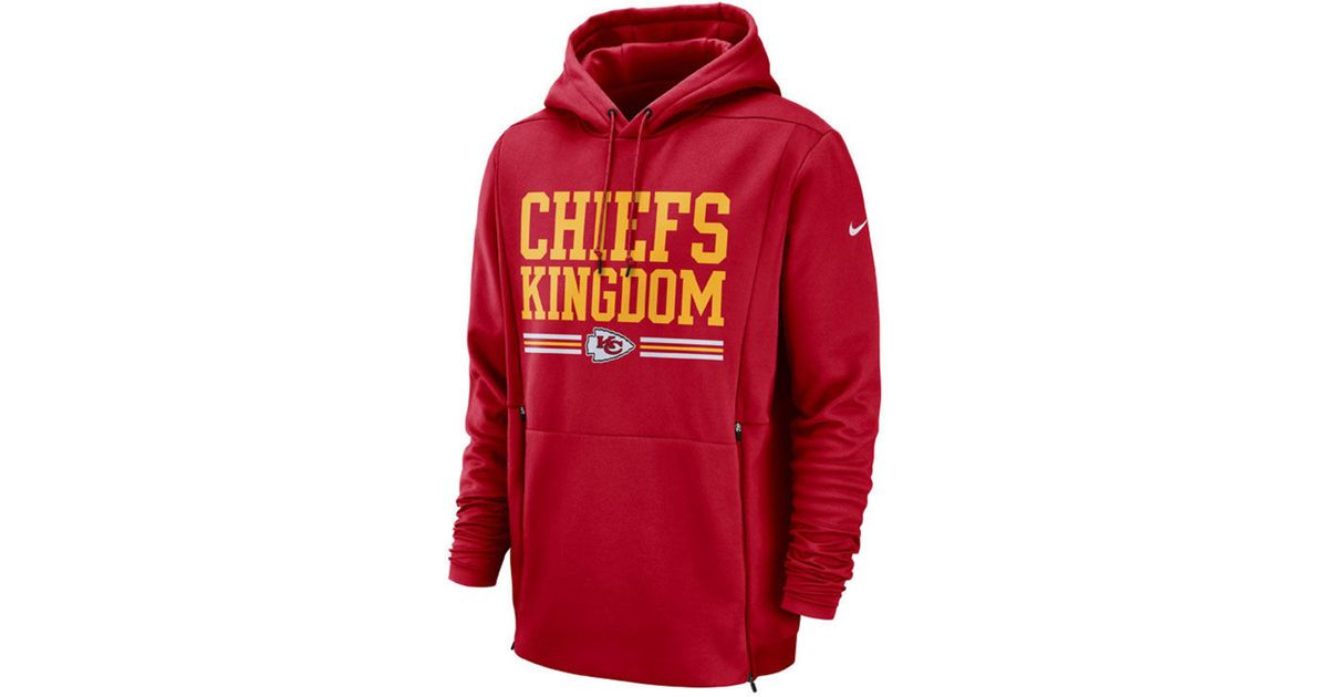 9f74613e Nike Kansas City Chiefs Sideline Player Local Therma Hoodie in Red ...