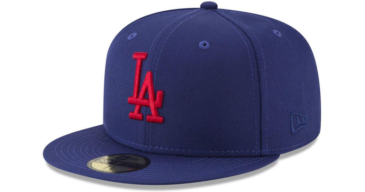Lyst - Ktz Los Angeles Dodgers Batting Practice Wool Flip 59fifty Fitted Cap  in Blue for Men 3a5f35736321