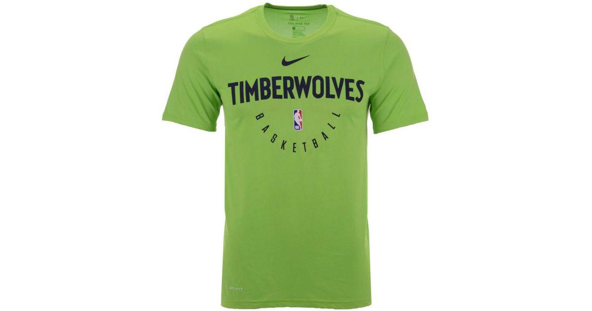 sports shoes 93a37 9b0ec Nike Green Minnesota Timberwolves Practice Essential T-shirt for men