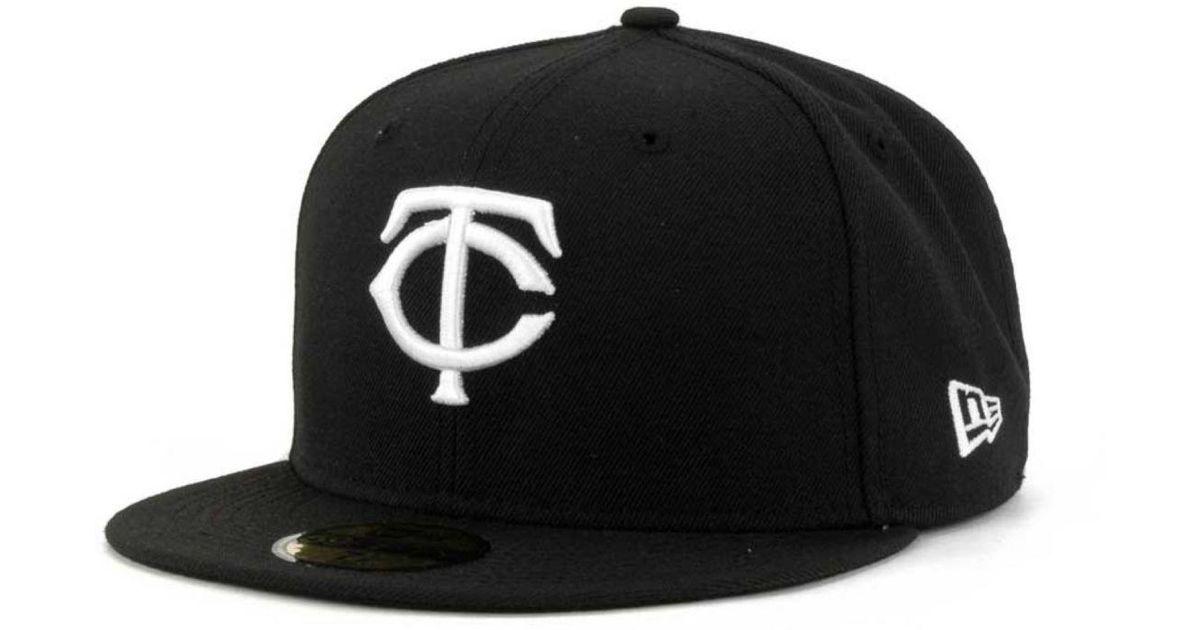 timeless design 766bf 4bca4 ... greece lyst ktz minnesota twins mlb b dub 59fifty cap in black for men  8ebfc 3a229