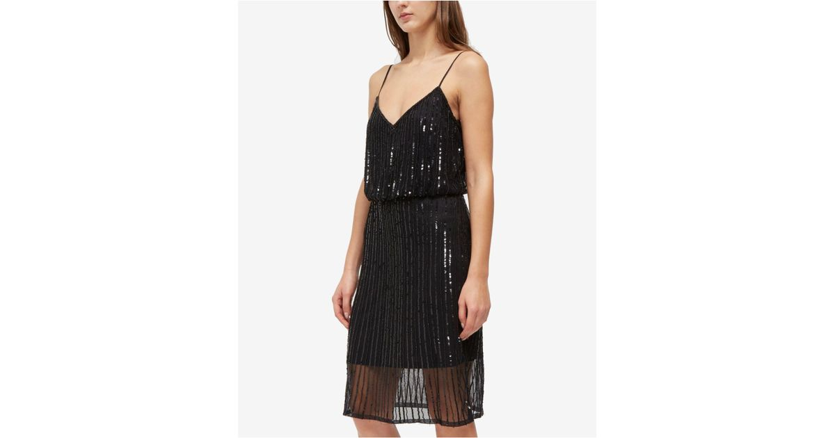 ba5f2f1e9694 French Connection Aster Shine Slip Dress in Black - Lyst