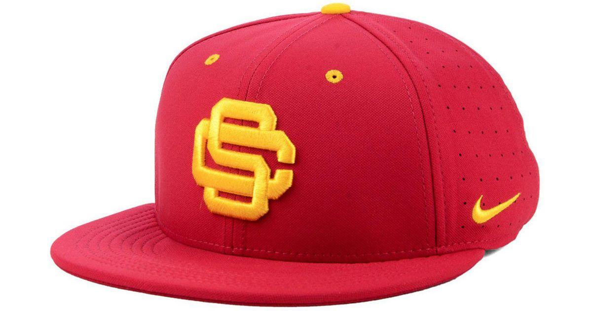 e4544b0dc0ee2 Lyst - Nike Usc Trojans Aerobill True Fitted Baseball Cap in Red for Men