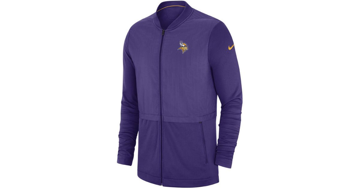 big sale e33a5 1a172 Nike - Purple Minnesota Vikings Elite Hybrid Jacket for Men - Lyst