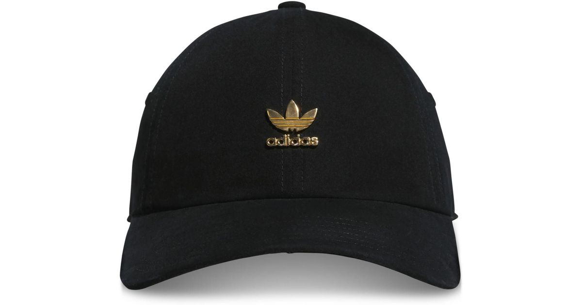 Lyst - adidas Originals Metallic-logo Relaxed Cap in Black f9348b1d4fa