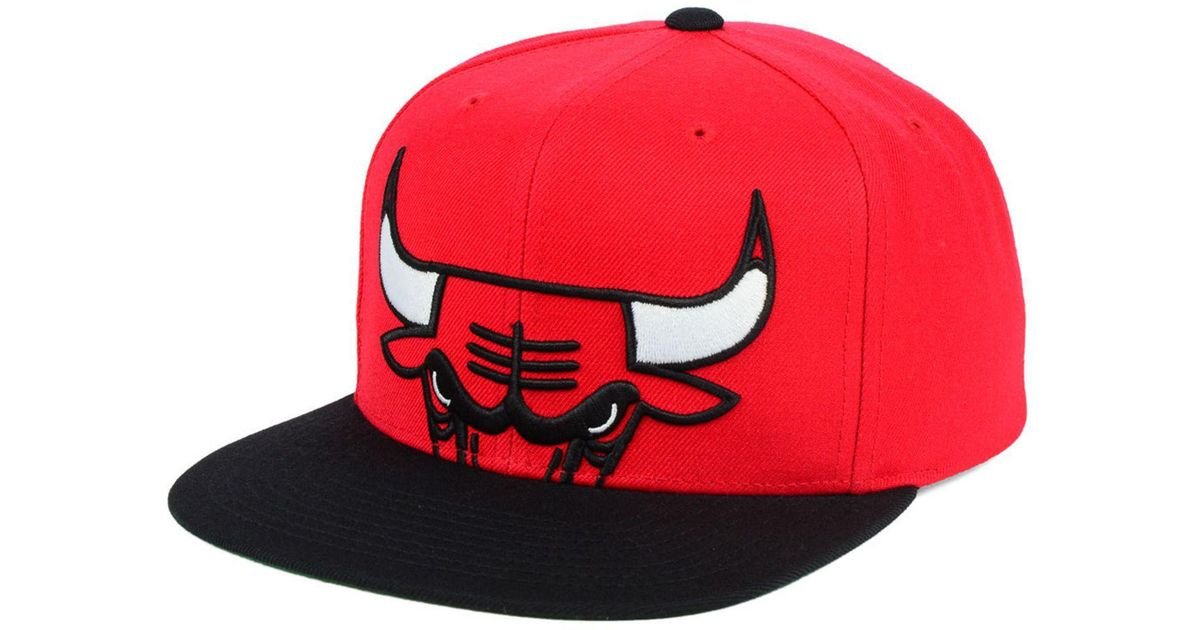 best sell cheap prices amazing price Mitchell & Ness Synthetic Chicago Bulls Cropped Xl Logo Snapback ...
