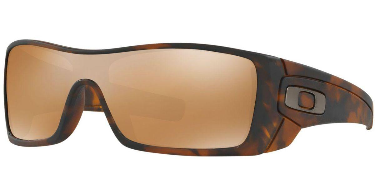 987a3efec4b6f ... where to buy lyst oakley batwolf sunglasses oo9101 in brown for men  fbc9a 7101b
