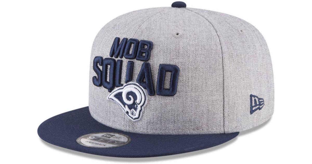 pretty nice 9c59c da2c1 Lyst - KTZ Los Angeles Rams Draft 9fifty Snapback Cap in Blue for Men