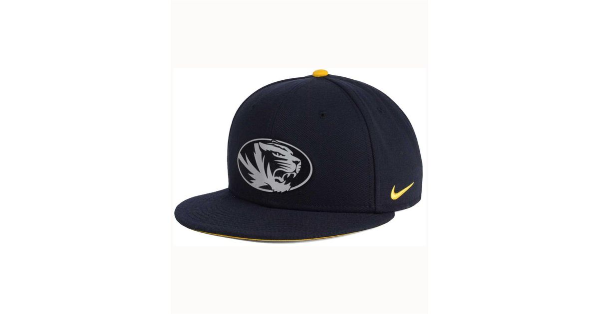 detailed look 175aa 80199 Nike Missouri Tigers True Reflective Snapback Cap in Blue for Men - Lyst