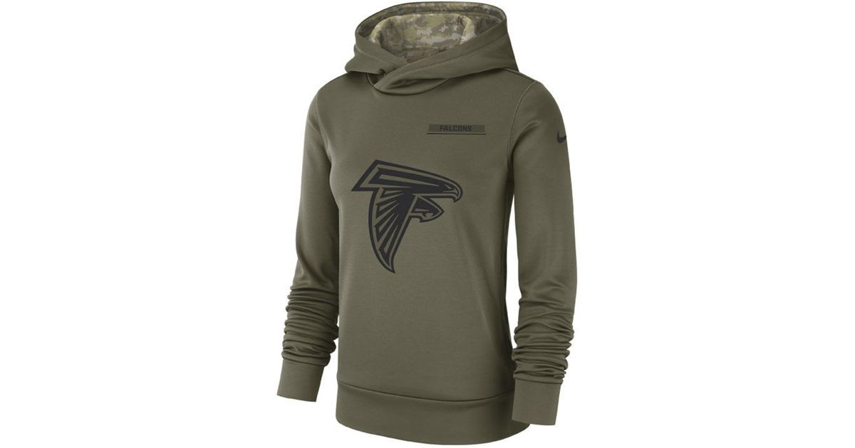 best loved 1d050 c751a Nike - Green Atlanta Falcons Salute To Service Therma Hoodie - Lyst