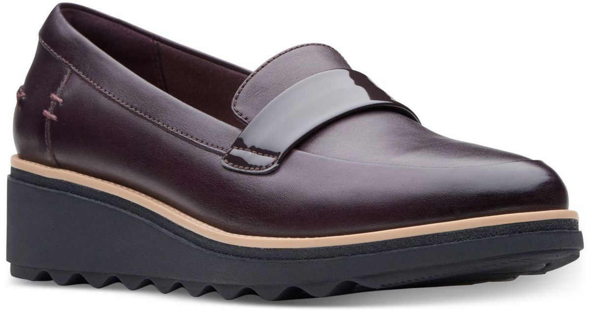 42a446da Clarks Sharon Gracie Platform Loafers, Created For Macy's in Blue - Lyst