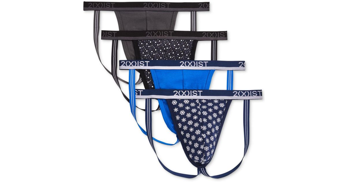 cc590731088d Lyst - 2xist 4-pk. Stretch Jock Straps in Blue for Men