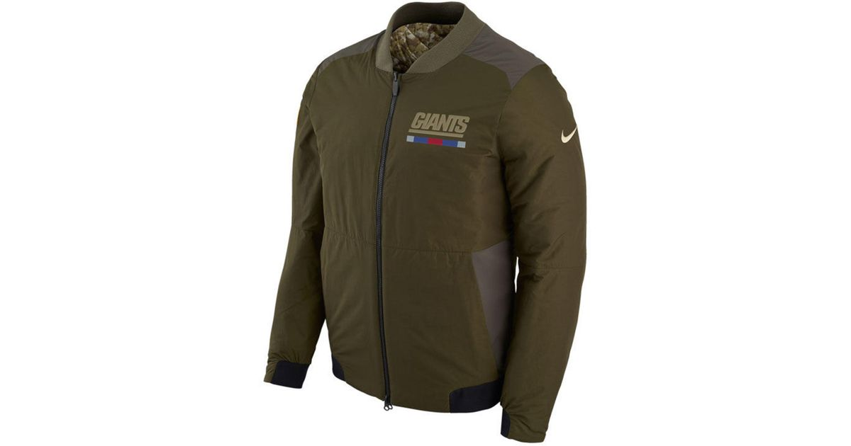 pretty nice 317c8 0ca9c Nike Green New York Giants Salute To Service Bomber Jacket for men