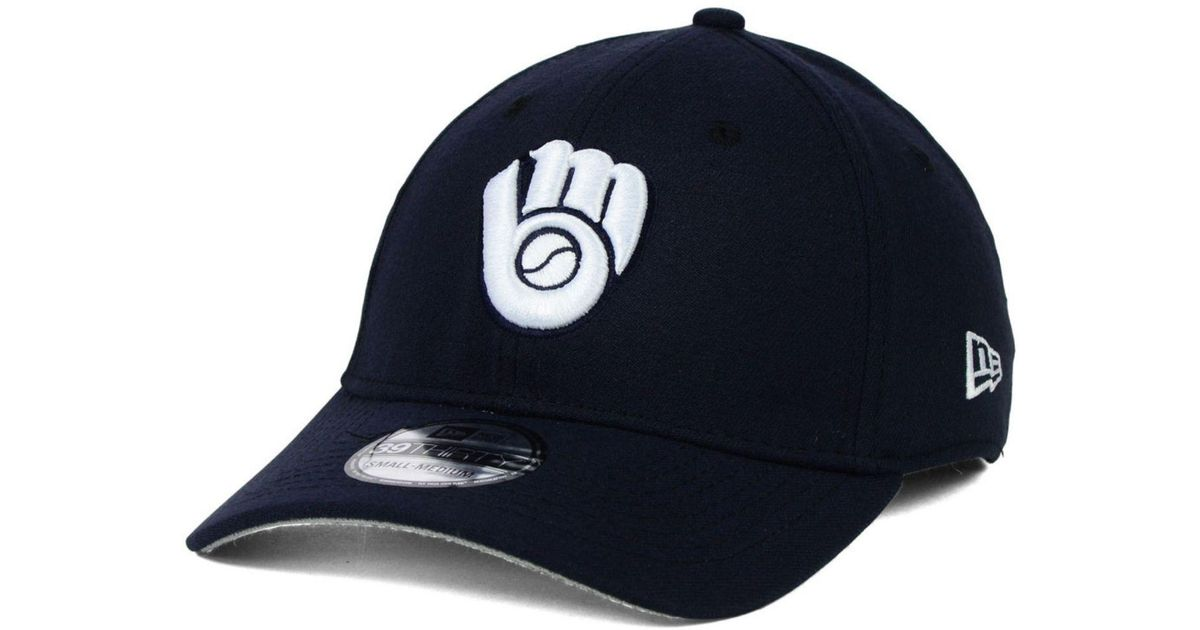uk availability 006c9 9a884 Lyst - KTZ Milwaukee Brewers Fashion 39thirty Cap in Blue for Men