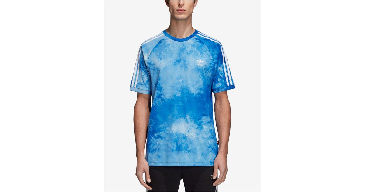 a85298089a1d0 Lyst - adidas Originals Hu Holi Tie Dye Tee in Blue for Men