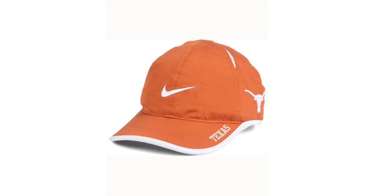 huge selection of ab4c9 a0c1f Nike Texas Longhorns Featherlight Cap in Orange for Men - Lyst