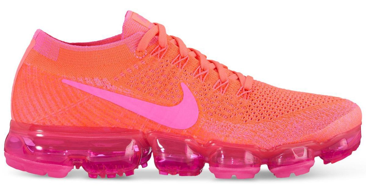 online store 00e98 b618c Nike Pink Air Vapormax Flyknit Running Sneakers From Finish Line