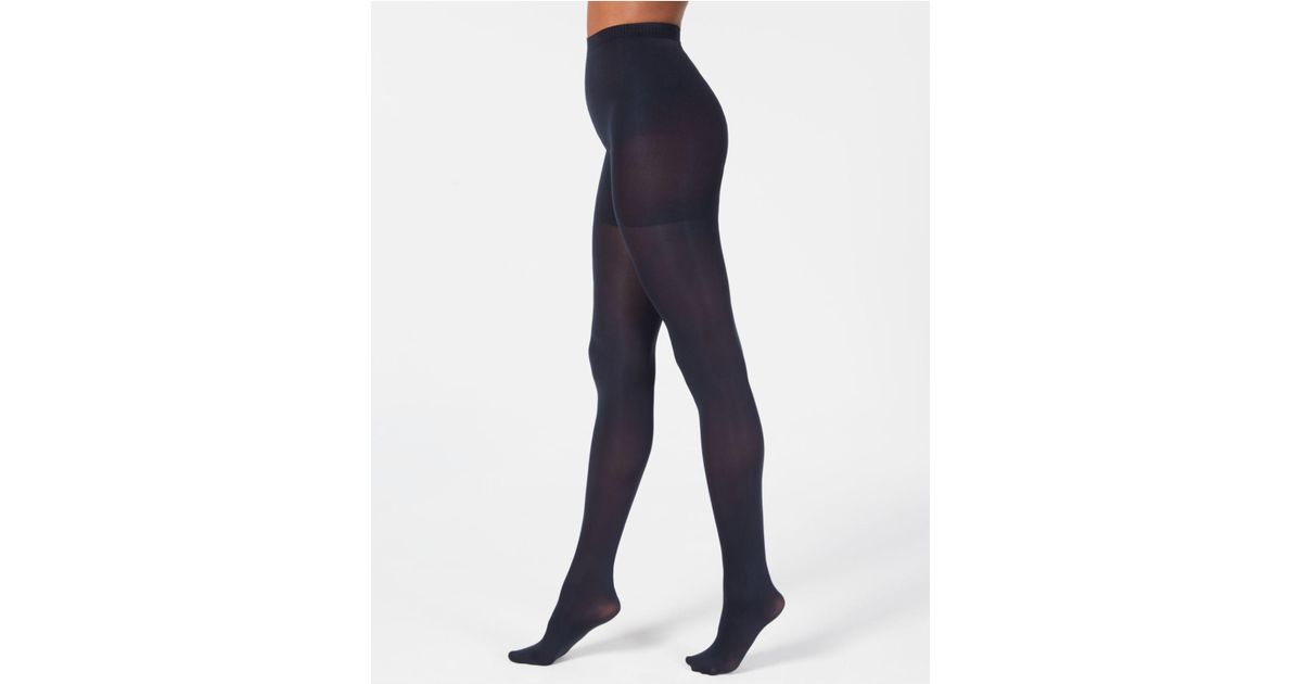 ca3061f7d6e Lyst - Hanes Perfect Opaque X-temp Tights in Blue