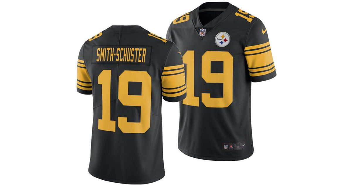 2d6395cab2a Nike Juju Smith-schuster Pittsburgh Steelers Limited Color Rush Jersey in  Black for Men - Lyst