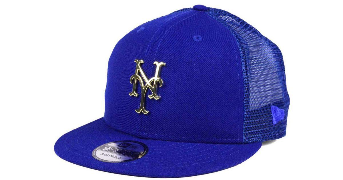4b4c688fcfe Lyst - Ktz New York Mets Color Metal Mesh Back 9fifty Cap in Blue for Men