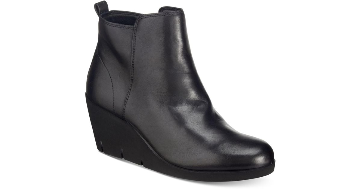 Ecco Leather Bella Wedge Booties in
