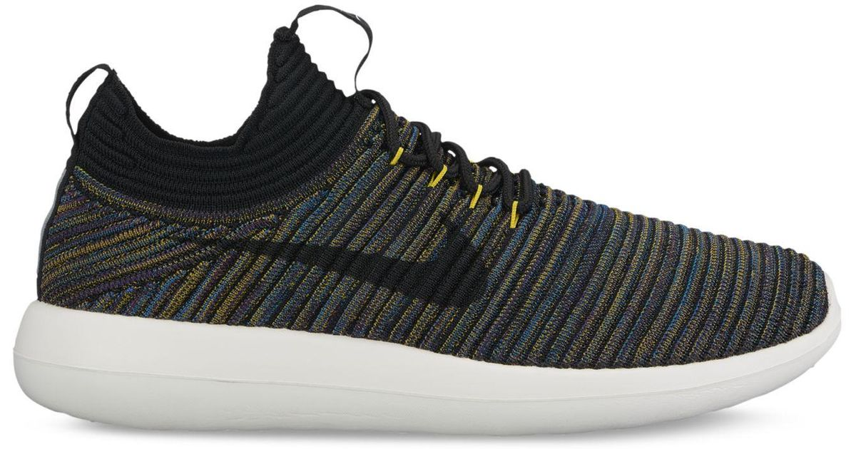 premium selection e5333 03c3c Lyst - Nike Women s Roshe Two Flyknit V2 Casual Sneakers From Finish Line  in Black
